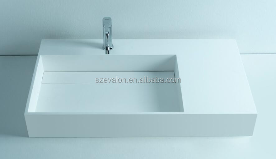 Bath sink/hair salon wall wash basin/toilet set with face basin stand,Artificial Stone hotel wall hung  bathroom sink