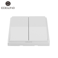 wireless safe self-powered no battery easy installation glass wall lighting wall smart switch for office building