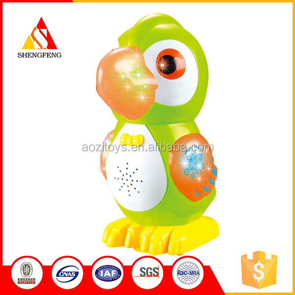 Flash plastic toys electric b/o animal toys to children toys