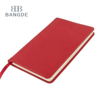 Red A5 hardcover promotional pu leather notebook