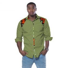 <span class=keywords><strong>Chemise</strong></span> en gros coupe ajustée à manches longues <span class=keywords><strong>hommes</strong></span> vêtements Dashiki africain cire impression Style décontracté <span class=keywords><strong>hommes</strong></span> chemises Plus 6XL WYN272
