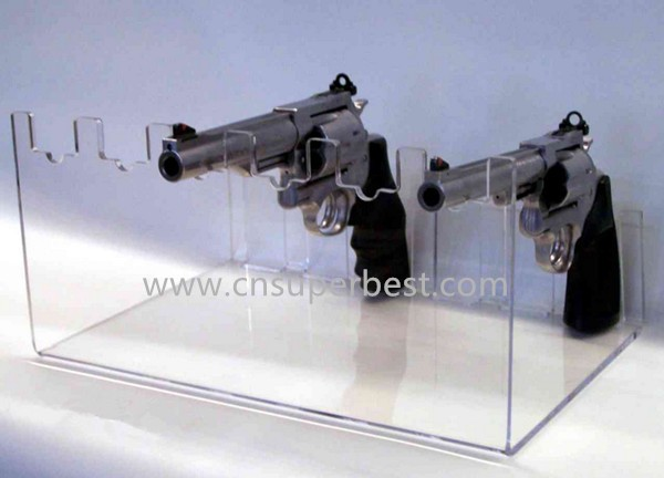 Personal use acrylic gun display stand with China factory prudction
