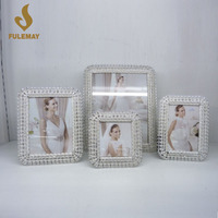 Modern Diamond-studded Lace Photo Frames Romantic Metal Picture Frame