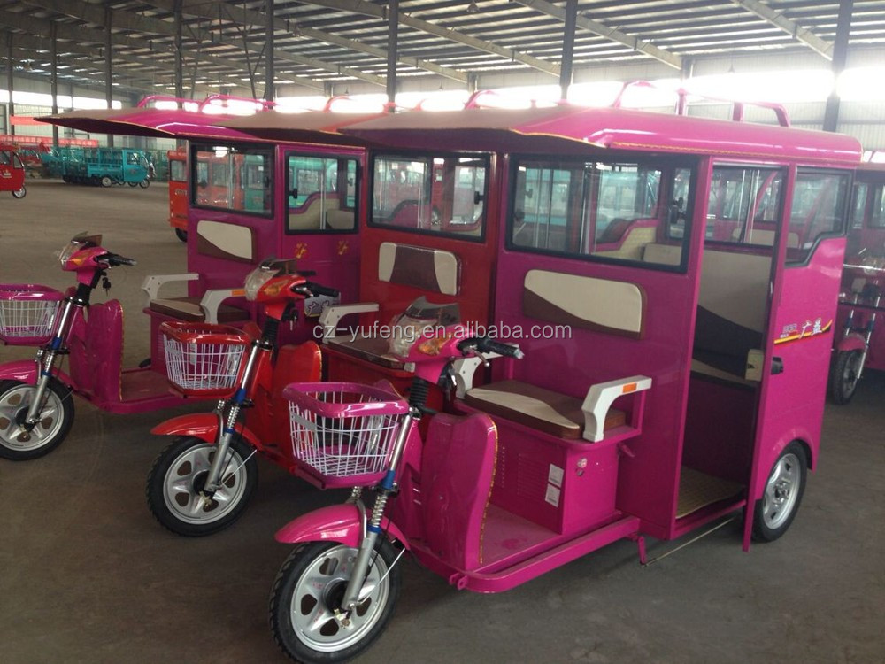 2015 China popular and high quality yufeng electric tricycle for passenger transport