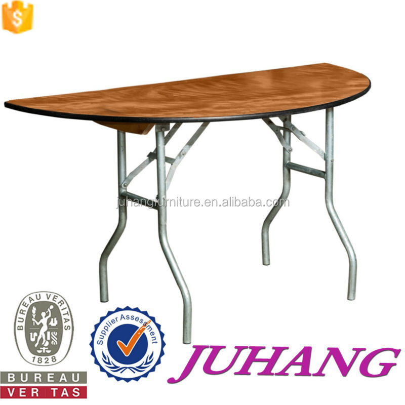 Space Saving Furniture Design Melamine Wooden Folding Dining Table