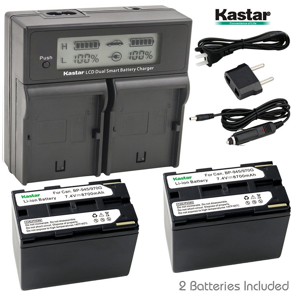 Kastar Battery LCD Fast Charger for Sony NP-QM71D & Sony