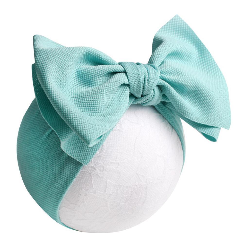 Fashion 16 soild colors baby headband corn big bow hair accessories low MOQ baby girl headband