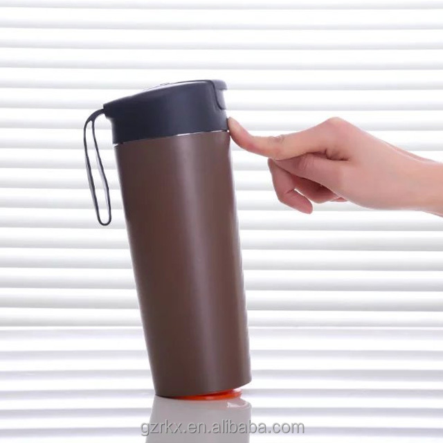 Hot Selling Mighty Mug Plastic Travel Thermo Drinking Non-spill Suction Mug,Double Wall Stainless Steel Magic Mighty Mug 500ML