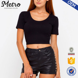 Best Quality competitive price women black crop top wholesale women