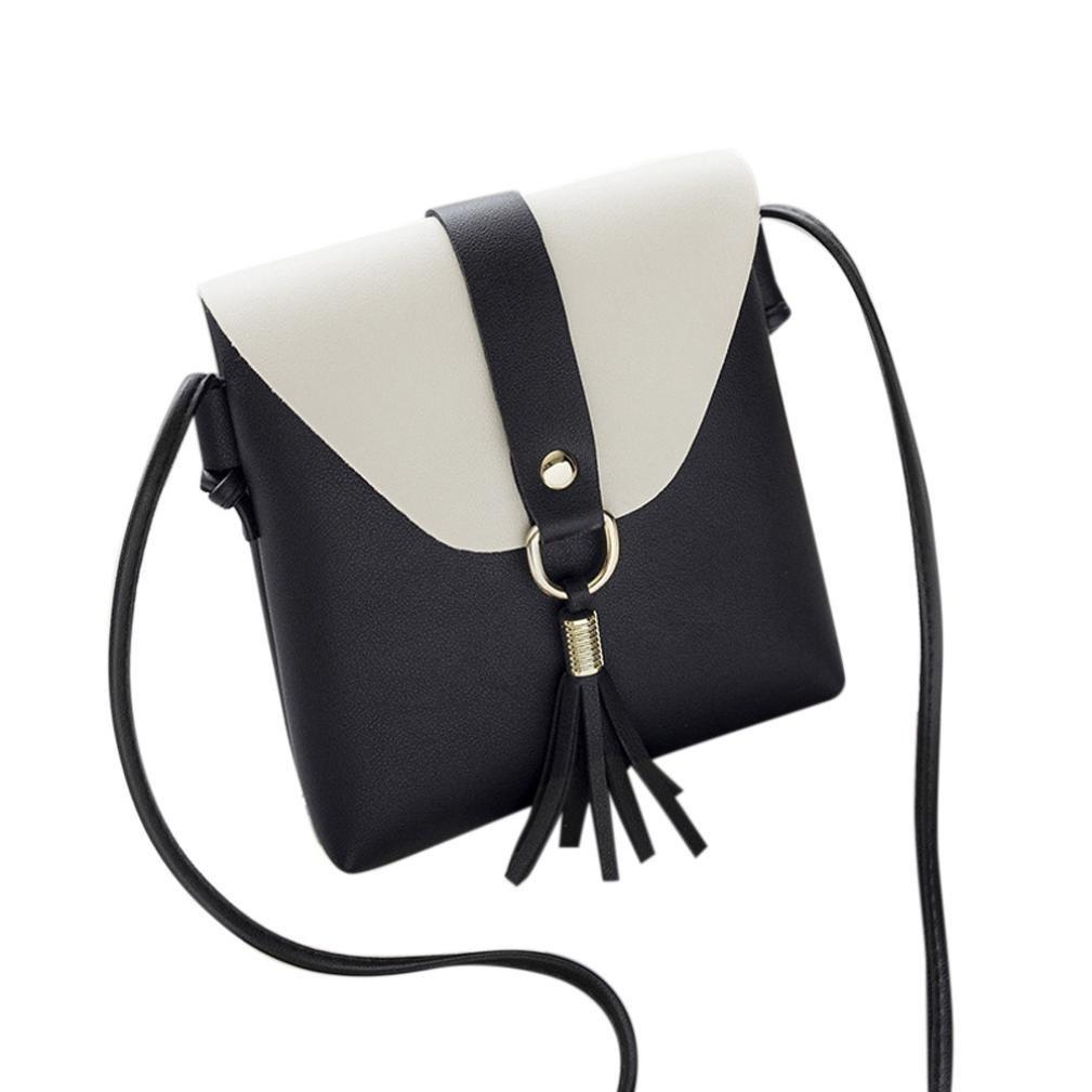 Get Quotations · Gotd Womens Girls Leather Crossbody Shoulder Bag Wallet  Mini Purse Card Holder Clutch Bag Tassel Messenger 020843c8d3cea