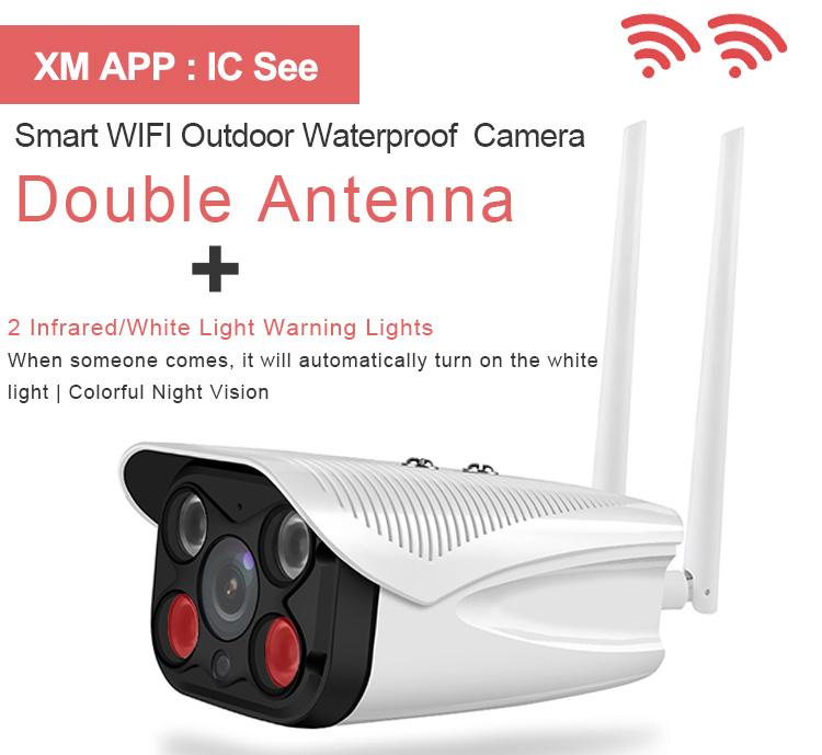 Hệ thống giám sát ngoài trời Wifi không dây 360 độ cảm biến chuyển động Video Camera Cctv Ip Security