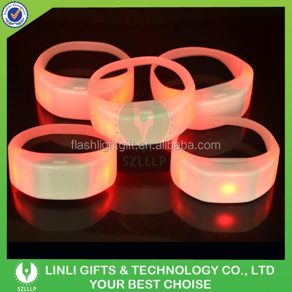 Custom Logo Printed Silicone Colorful Led Remote Bracele,T,Rc ...