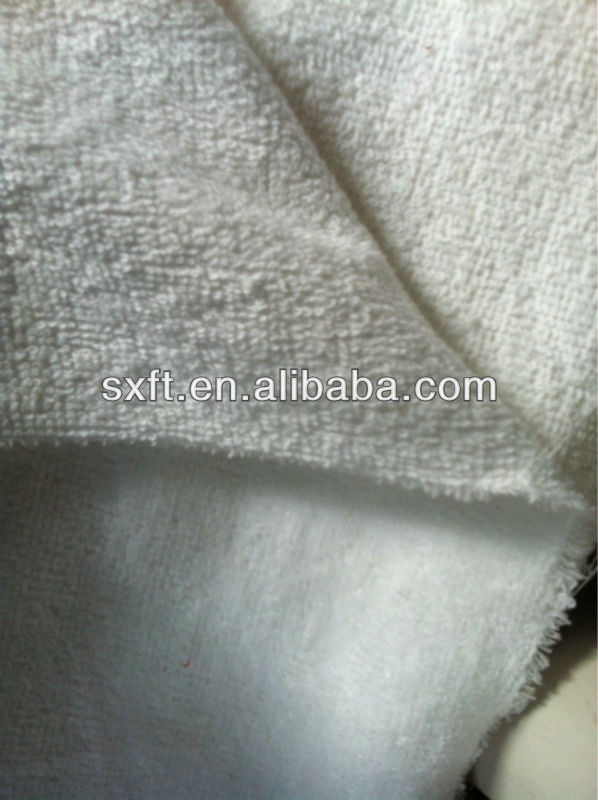 100% cotton woven terry towel fabric CVC80/20 towel fabric