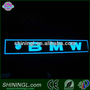 Alibaba Custom Flashing Sound Activated El Panel Car Sticker