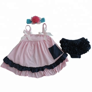 393fe7d9dc 2018 the latest girls swimming dress and diaper cover cute baby headband  pink suit summer beach