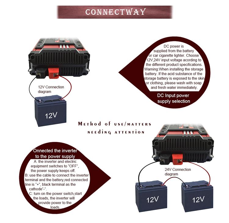 Suoer 1000watt 1kw 24 volt dc convert 230 volt ac ture sine wave power inverter