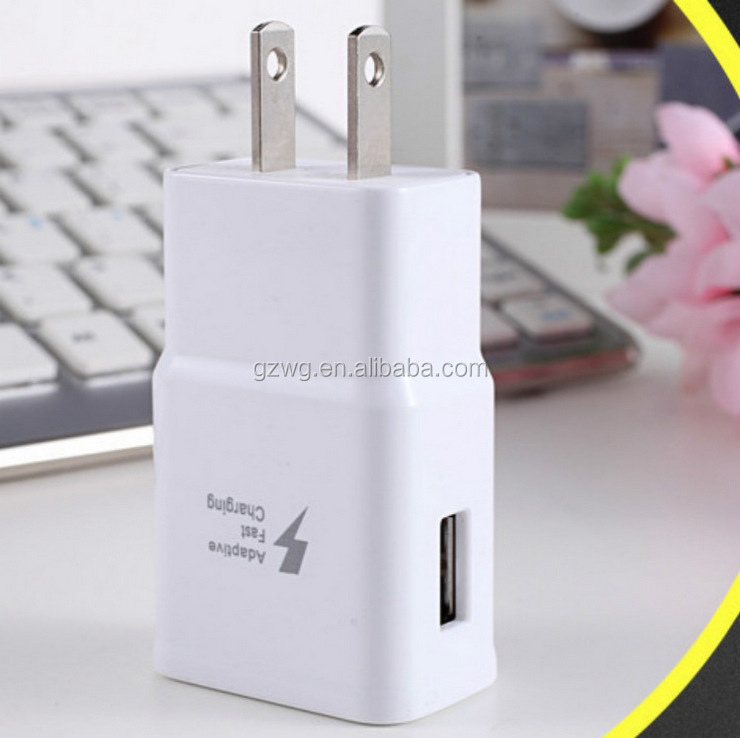 S6 S8 s10 s20 quick charge fast charger travel wall usb charger adapter 9V 5V/2A in black/white Cargador for samsung charger