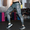 Camo Mens Compression Pants Sports Running Tights Skinny Basketball Running Base Layer Fitness Joggers Leggings Trousers