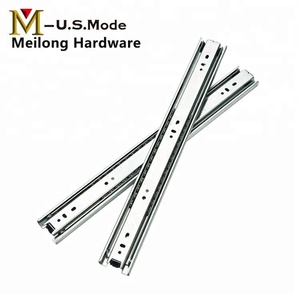 Telescopic Channel Drawer Slide / Kitchen Drawer P arts / Ball Bearing Cold Roll Iron Telescopic Drawer Slide dtc