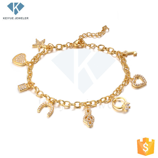 Fancy Gold Plated Hand Chain Charm Bracelet Design S Accessories For Women