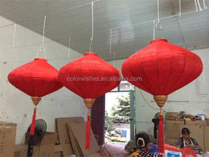 Hanging Waterproof Fabric Chinese Traditional Blessing Silk Lanterns