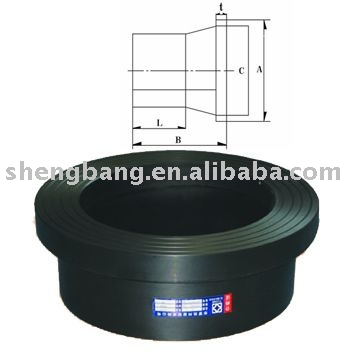 PE100 hdpe pipe fitting: Flange