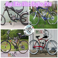 2 stroke 80cc gas bicycle engine kit/50cc motor bike kit/beach cruiser