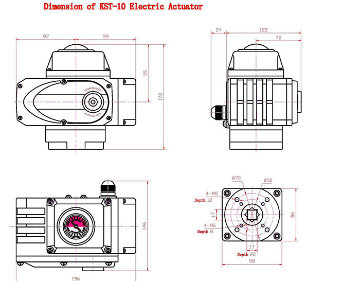Kst-b Rotary Electric Actuator For Ball Valve,Butterfly Valve ...
