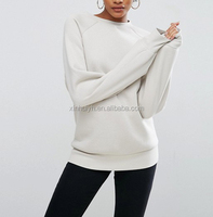 Very Good Quality White Pullover Hoodies Fleece 300gsm Women Warm Blank Winter Sweatshirt