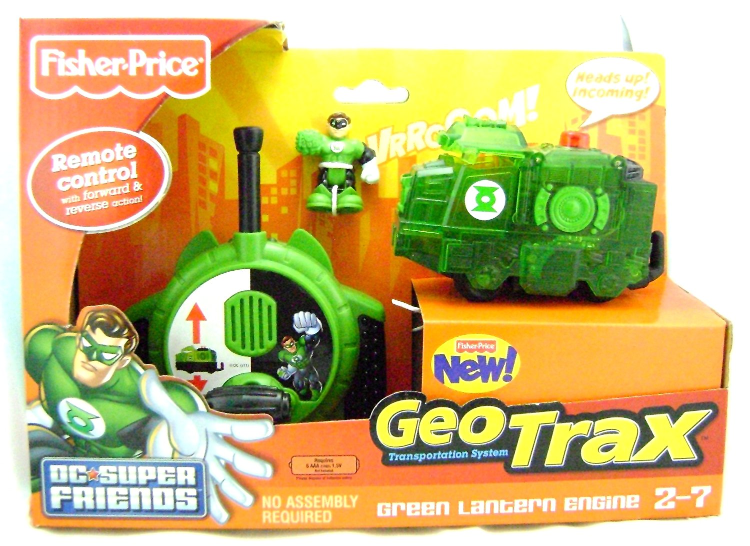 Fisher-Price GeoTrax DC Super Friends Turbo Remote Control Vehicle - Green Lantern Engine