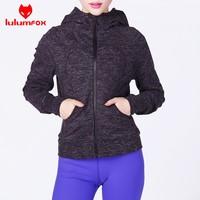 0045-2 OEM Winter Long Sleeves Raglan Thumb Holes Women French Terry Yoga Hoodie