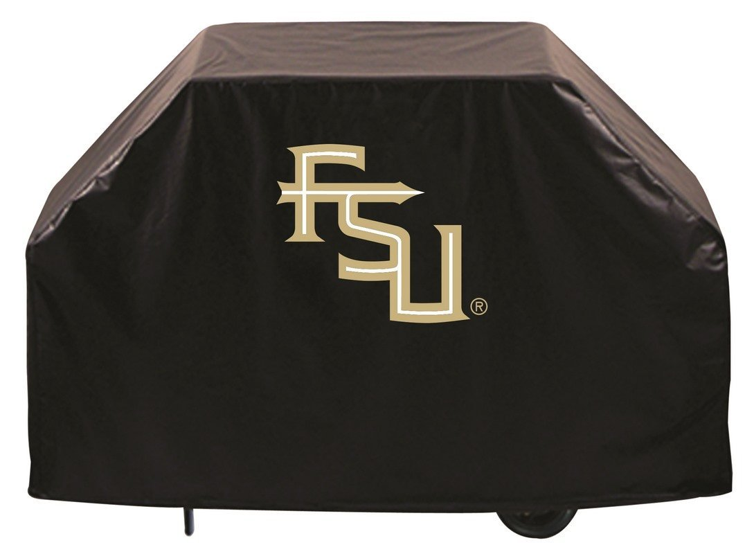 Team Sports Covers Ferris State Grill Cover with Bulldogs Logo on Black Vinyl