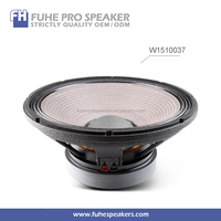 W1510037 15inch high end speaker manufacturers/loudspeakers audio pro/pa and dj speaker