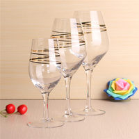 WG-007 Elegant Gold-plated Goblet Champagne Flute Glass White Wine Red Wine Glass For Vodka Cup Wedding Party Dinner Wine Cup