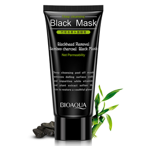 bamboo Private label charcoal blackhead remover peel off deep cleansing black facial mask