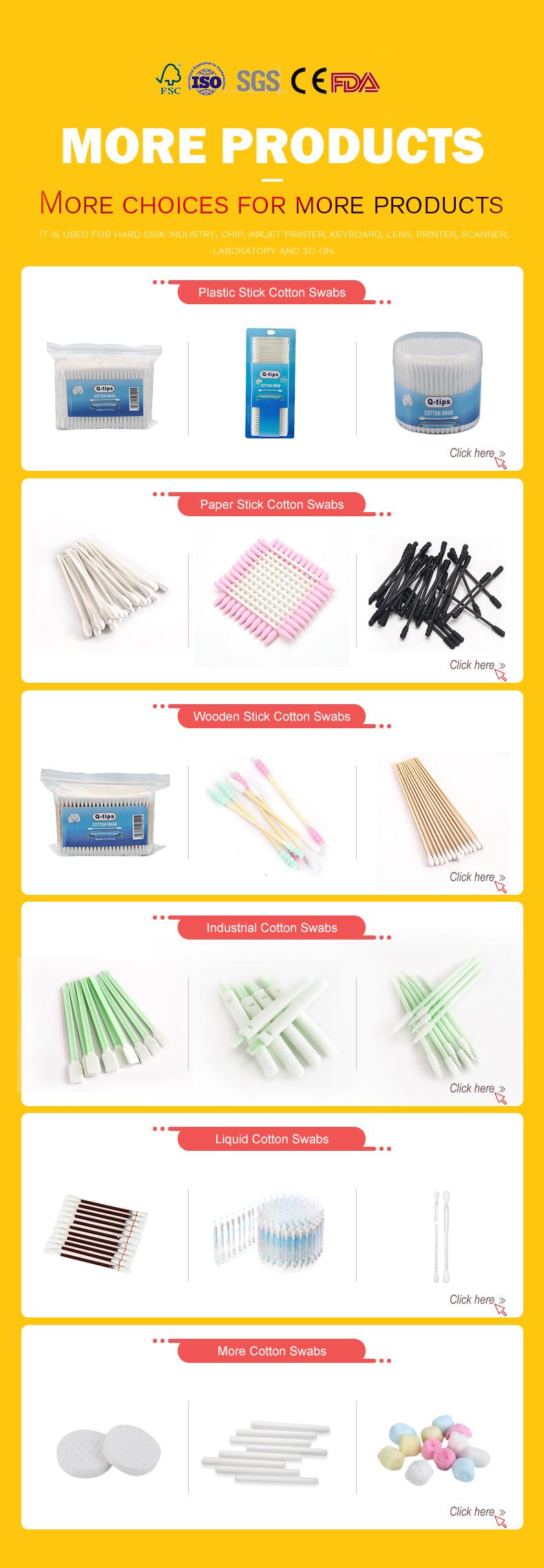 100% Natuurlijke Eco Biologisch Afbreekbare Fabrikant Bamboe Houten Sticks Aangepaste Wattenstaafje