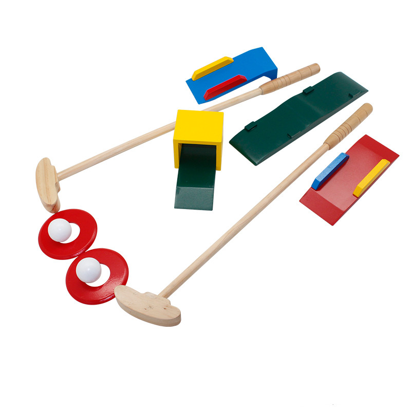 Sport item wooden golf play set toy for kids