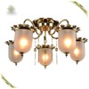 Newest Design Five Head Glass Lamp Warm Light Ceiling lamp Russian Style Light