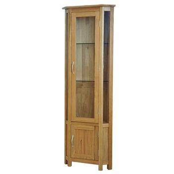 Custom Made Wooden Home Furniture Modern Storage Corner Cabinet For Display