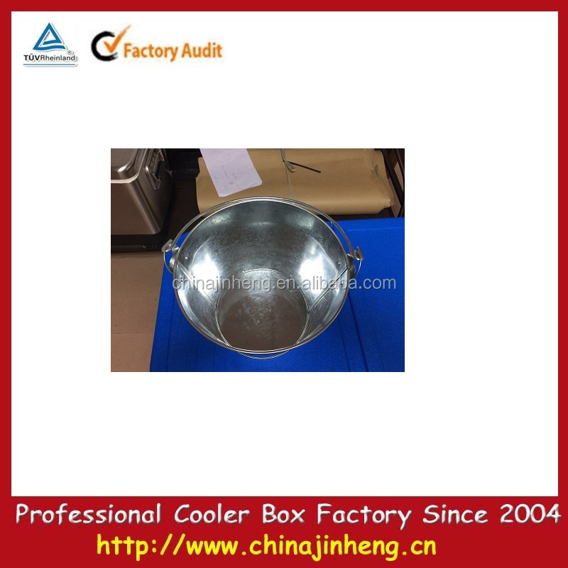 metal ice bucket for beer,metal oval ice tub,galvanized metal beer bucket