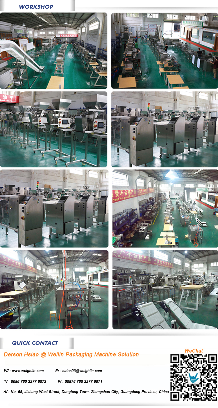 Hot Sale Automatic Weighing Filling Sealing Machine with Multihead Weigher for Snacks