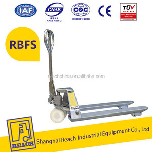 Industry used adjustable scissor lift manual pallet truck