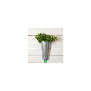 Half Round Decorative Plant Hanging Metal Wall Mounted Flower Pot Holder For Balcony