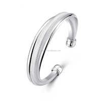 Fashion Silver Bangle Wholesale LK-0001