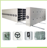 Steel Mobile Lockers Vertical Movable Office Filing System Compact Shelf