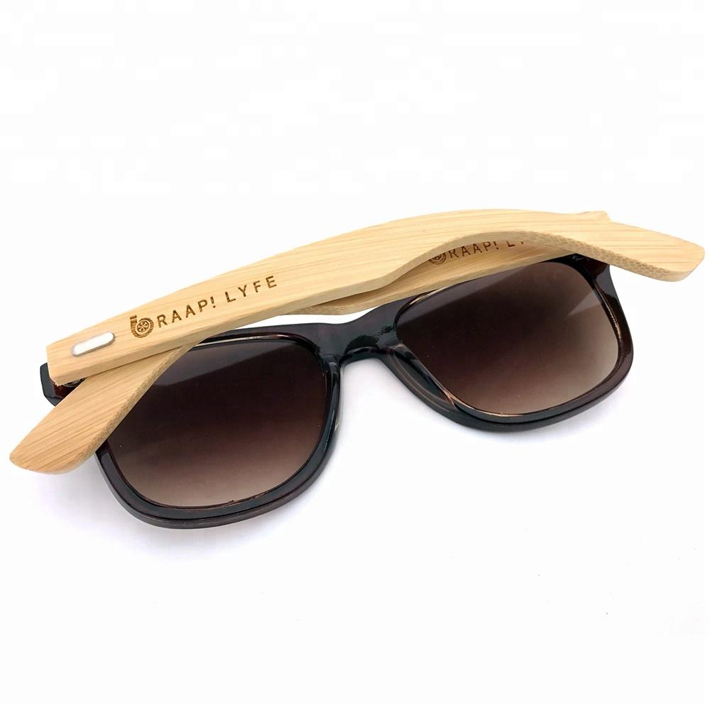 150107 Superhot Eyewear Custom Logo Sun glasses Bamboo Sunglasses