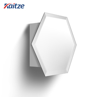 kaitze Bathroom Mirrored Door Wall Cabinet Cupboard