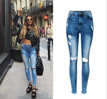 fbbc11b03 Z92463A 2017 Novo Modelo Mulheres de Jeans Da Moda, Alibaba Top Europeu de  Design Mulheres