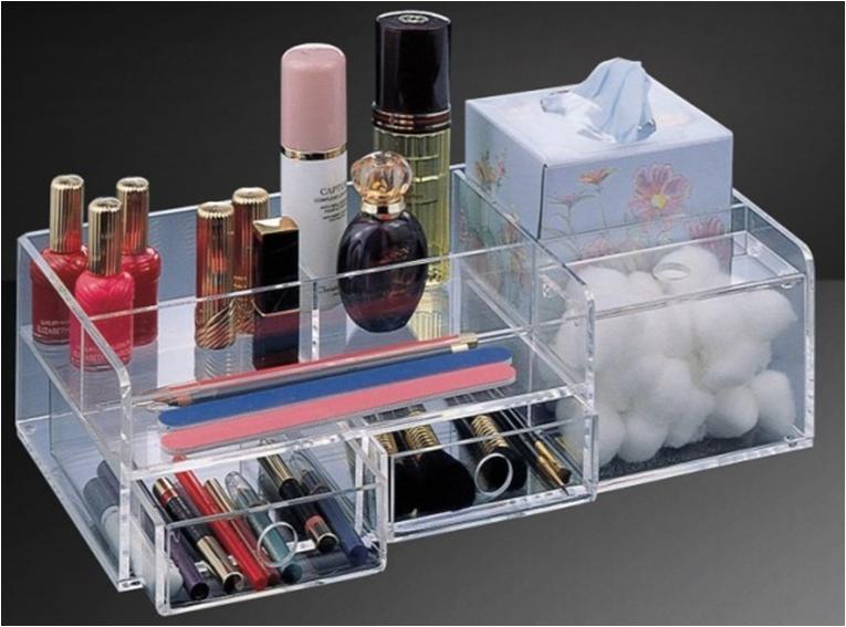 Acrylic Beauty Makeup Organizer Desktop Organizer Sitting Room Tea Table  Coffee Table Organizer