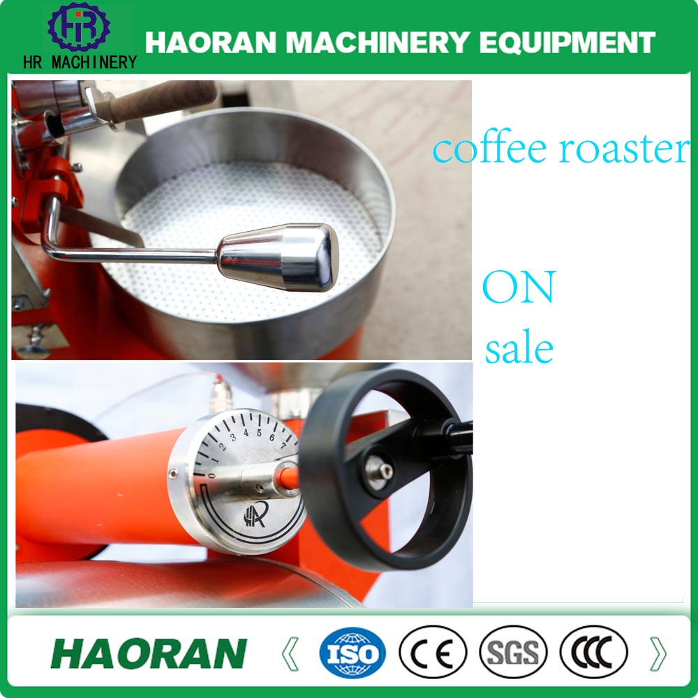 1 kg automatic Stainless steel Coffee Roaster gas / electric heating coffee roaster with best quality